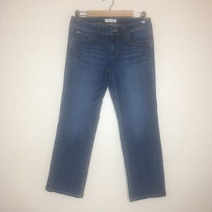 WHBM Blanc cropped blue jeans #184